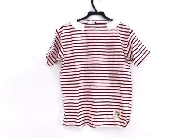 ナイジェルケーボン 半袖Tシャツ サイズ46 XL メンズ 白×レッド ボーダー