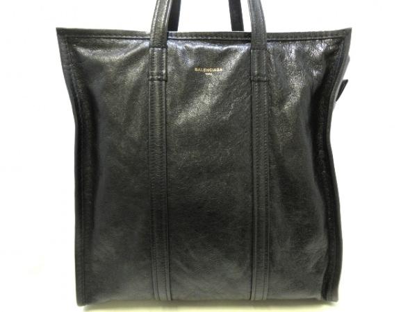 バレンシアガ ハンドバッグ美品  バザール ショッパー M 480792 黒 ラムスキン