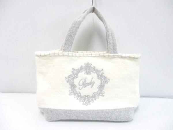 Rady(レディ) トートバッグ美品  アイボリー×グレー ニット/刺繍