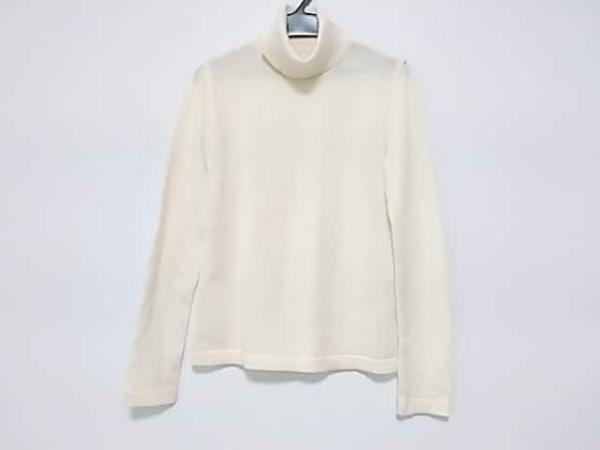 フランコフェラーロ 長袖セーター サイズ2 M レディース美品  アイボリー