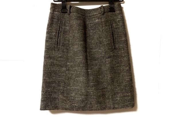 INCOTEX(インコテックス) スカート サイズ38 M レディース グレー ラメ