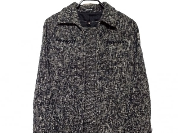 コムサデモード ワンピーススーツ サイズ9 M レディース 黒×グレー×白