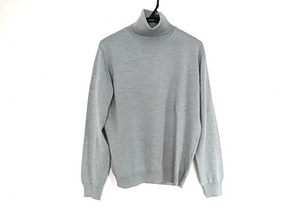 ゼニア 長袖セーター サイズ2 M メンズ ライトブルー タートルネック