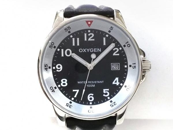 OXYGEN(オキシゲン) 腕時計美品  - - メンズ 黒
