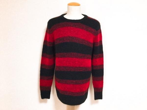 ラウンジリザード 長袖セーター サイズ2 M メンズ美品  レッド×黒 ボーダー