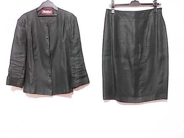 MAXMARA STUDIO(マックスマーラスタジオ) スカートスーツ サイズ42 L レディース 黒