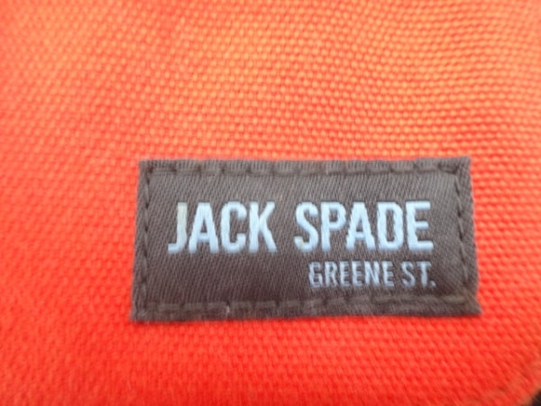 JACK SPADE(ジャックスペード) ショルダーバッグ オレンジ×黒 キャンバス