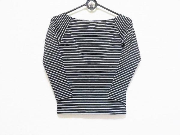 メゾン ド リーファー 長袖Tシャツ サイズ38 M レディース新品同様  黒×白 ボーダー
