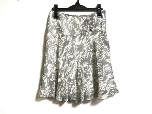 自由区/jiyuku(ジユウク) スカート サイズ40 M レディース美品  グレー×白