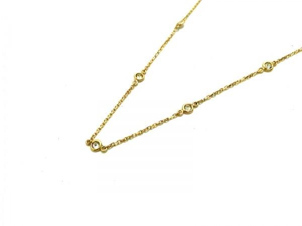 ノーブランド ネックレス美品  K18×ダイヤモンド クリア 総重量:1.2g/0.14刻印