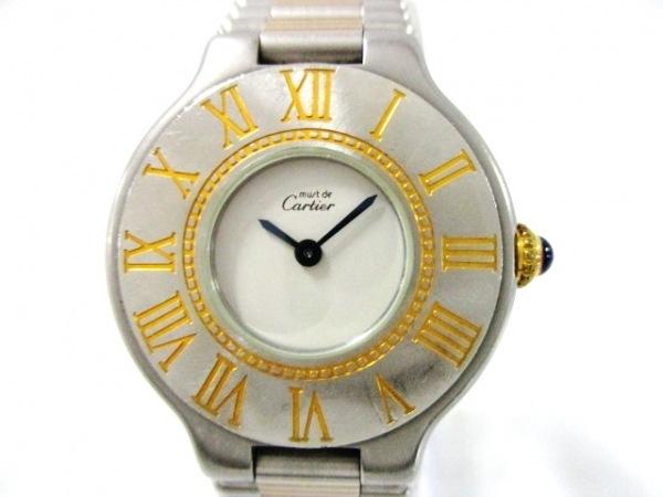 Cartier(カルティエ) 腕時計美品  ますと21 - レディース アイボリー