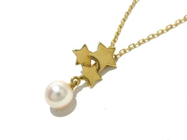mikimoto(ミキモト) ネックレス美品  K18YG×パール 白 1Pパール(直径約6mm)/スター