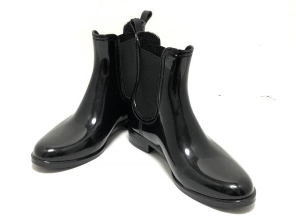 ファビオルスコーニ レインブーツ 37 レディース 黒 サイドゴア ラバー×化学繊維
