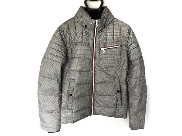 ハイダウェイニコル ダウンジャケット サイズ46 XL レディース 黒×アイボリー