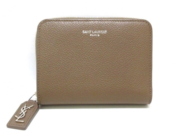 サンローランパリ 2つ折り財布美品  リヴゴーシュコンパクトフルジップウォレット