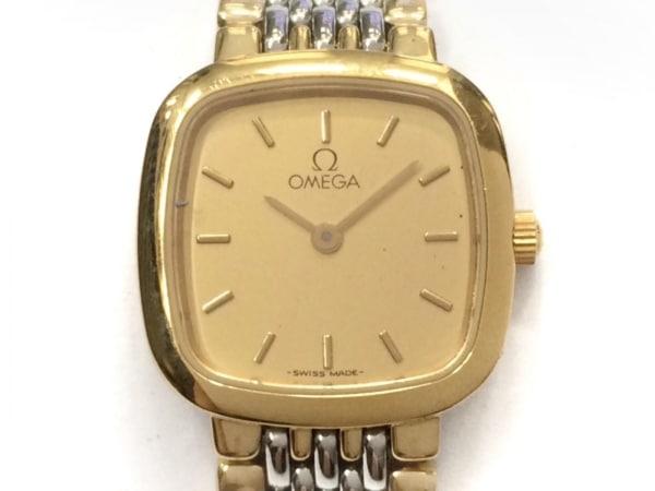 OMEGA(オメガ) 腕時計美品  - レディース ベージュ