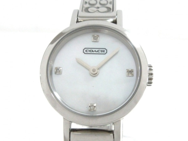 COACH(コーチ) 腕時計 ミニシグネチャー柄 277 レディース シェルホワイト