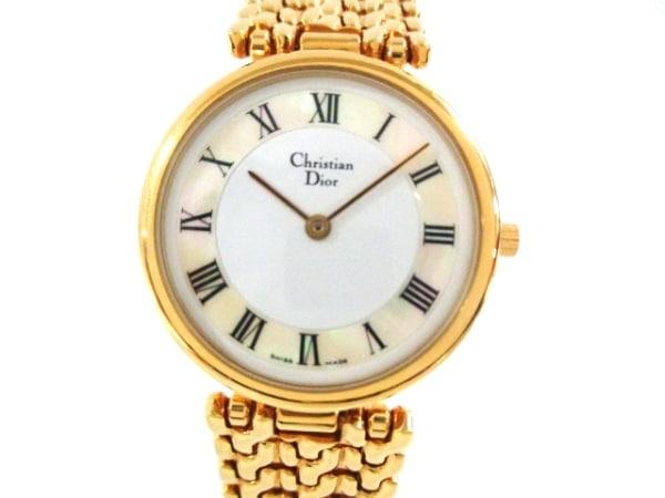 ChristianDior(ディオール) 腕時計美品  - レディース アイボリー×シェルホワイト