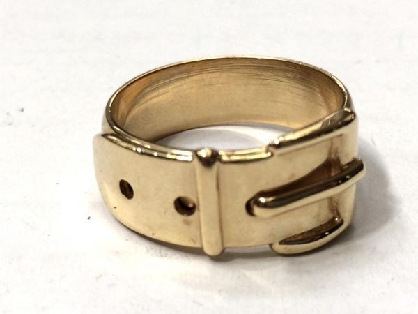 GUCCI(グッチ) スカーフリング美品  - 金属素材 ゴールド