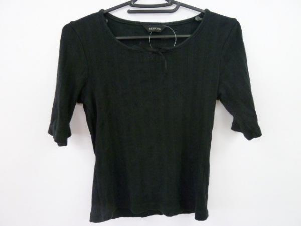 INGEBORG(インゲボルグ) 七分袖セーター サイズS レディース 黒 リボン/ストライプ