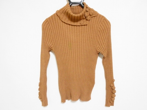 インゲボルグ 長袖セーター サイズS レディース ブラウン タートルネック/フラワー