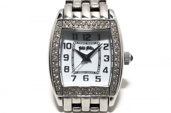 FolliFollie(フォリフォリ) 腕時計 - レディース ジルコニアベゼル 白