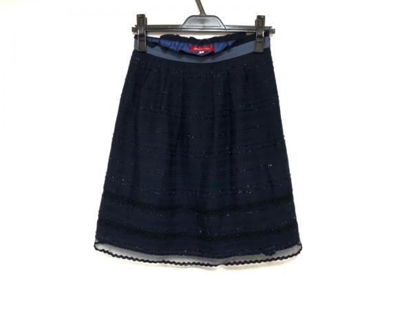 アプワイザーリッシェ スカート サイズ2 M レディース美品  ダークネイビー