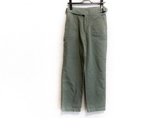 ダイアグラム パンツ サイズ38 M レディース ライトグリーン