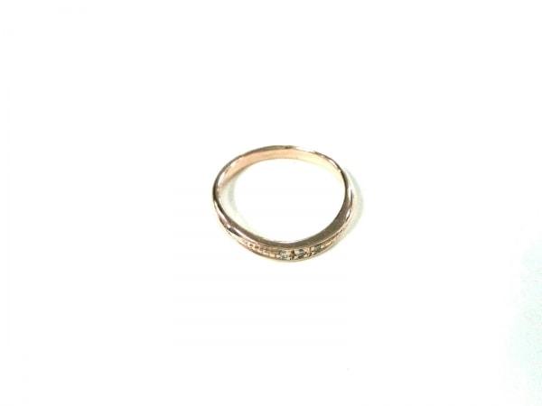 スタージュエリー リング美品  K10PG×ダイヤモンド 3Pダイヤ/0.01カラット