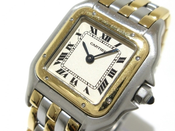 Cartier(カルティエ) 腕時計 パンテールSM - レディース SS×K18YG/3ロウ アイボリー