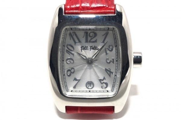 FolliFollie(フォリフォリ) 腕時計 S922 レディース 型押し革ベルト 白