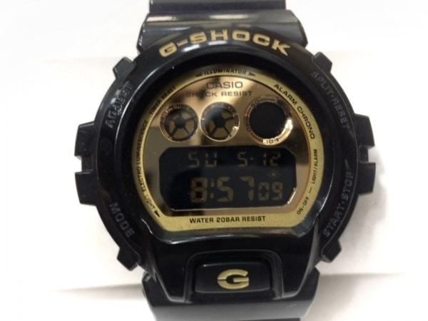 CASIO(カシオ) 腕時計美品  G-SHOCK DW-6900CB メンズ ラバーベルト ゴールド×黒