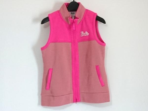 パーリーゲイツ ベスト サイズ1 S レディース美品  ピンク ジップアップ/Barbie golf