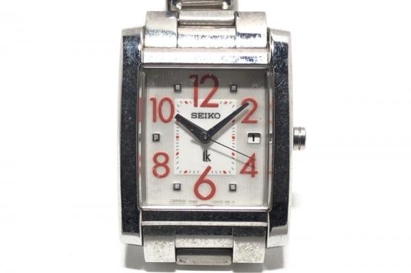SEIKO(セイコー) 腕時計 ルキア 7N82-0DK0 レディース アイボリー×レッド