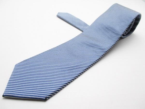 PaulSmith(ポールスミス) ネクタイ メンズ ブルー×ライトグレー ストライプ