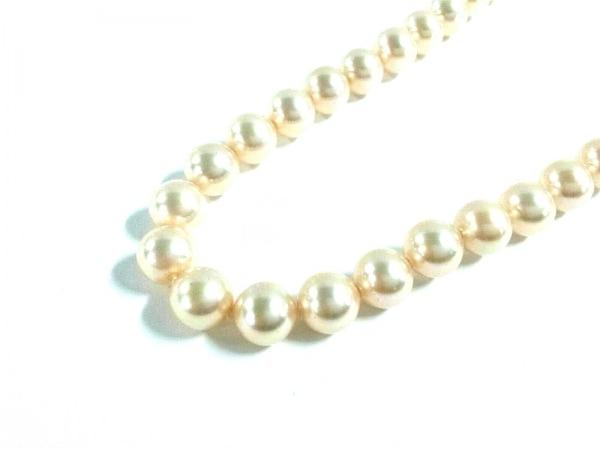 MAJORICA(マジョリカ) ネックレス フェイクパール×金属素材 アイボリー×ゴールド