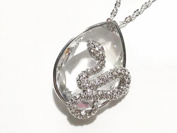 スワロフスキー ネックレス美品  スワロフスキークリスタル×金属素材 シルバー 蛇