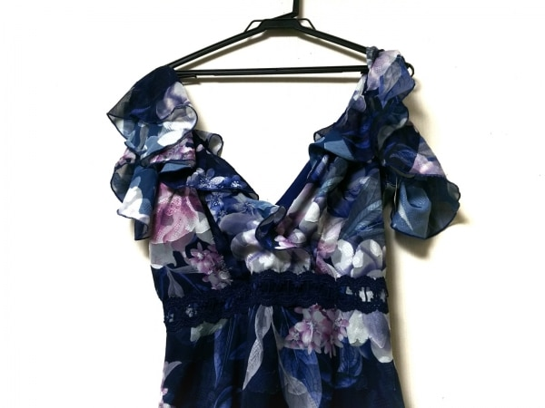 LIPSY(リプシー) ドレス サイズ38 M レディース ブルー×マルチ 花柄