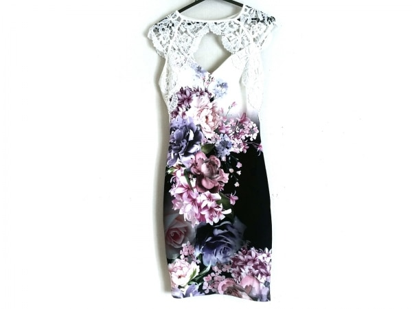 LIPSY(リプシー) ドレス サイズ38 M レディース アイボリー×ピンク×マルチ 花柄