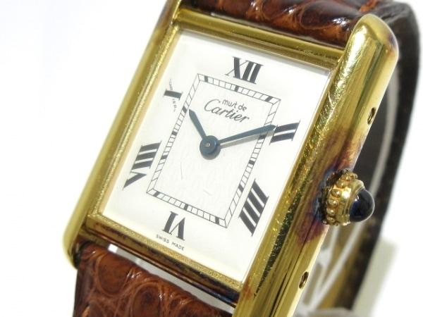 Cartier(カルティエ) 腕時計 マストタンク - レディース 925 アイボリー