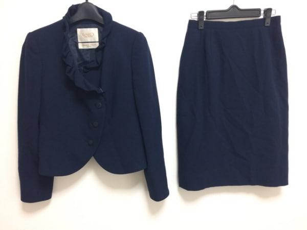 ユキサブロウワタナベ スカートスーツ サイズ9 M レディース ダークネイビー wako