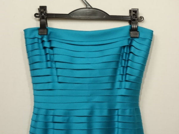 TADASHI(タダシ) ドレス サイズ2 M レディース ライトブルー フリル/ベアトップ