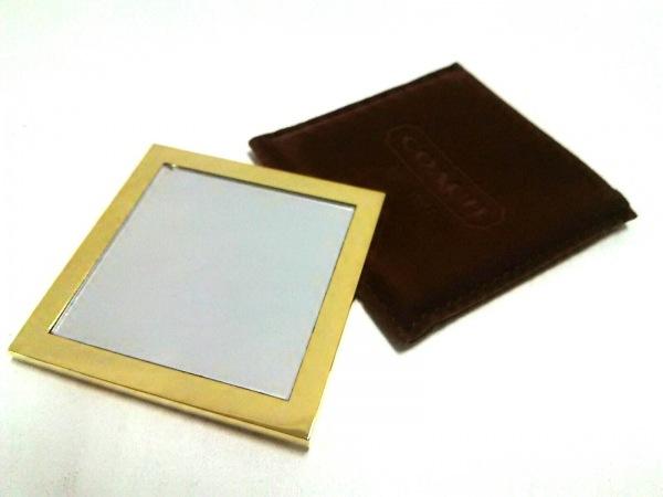 COACH(コーチ) ミラー美品  ゴールド×クリア 金属素材×ガラス