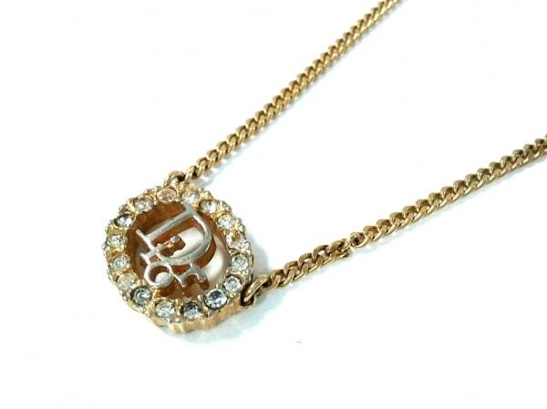 クリスチャンディオール ネックレス 金属素材 ゴールド ラインストーン