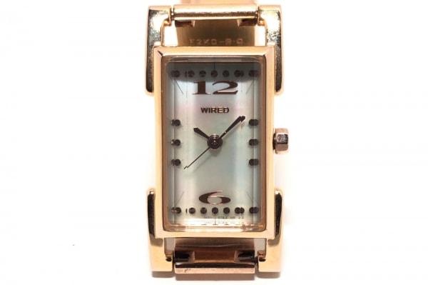 WIRED(ワイアード) 腕時計 1N01-0JZ0 レディース シェル文字盤 シェルホワイト