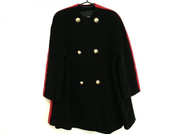 EMPORIOARMANI(エンポリオアルマーニ) コート サイズ38 S レディース 黒×レッド 冬物
