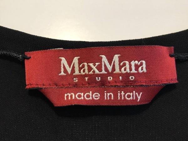 マックスマーラスタジオ ワンピース サイズS レディース美品  黒×ベージュ
