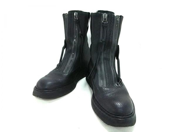 best sneakers d9f4c aeedd BALENCIAGA(バレンシアガ) ショートブーツ 42 メンズ美品 黒 レザー