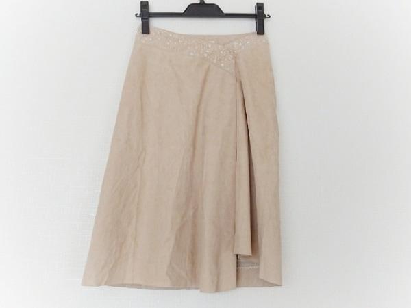 FOXEY(フォクシー) スカート サイズ38 M レディース美品  ベージュ