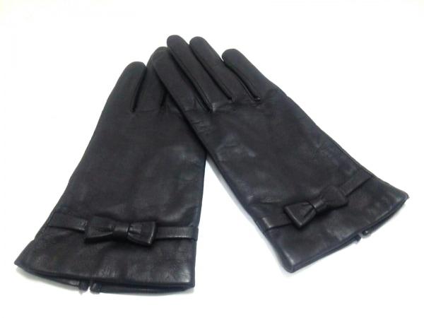 LANVIN(ランバン) 手袋 レディース美品  ダークブラウン リボン レザー